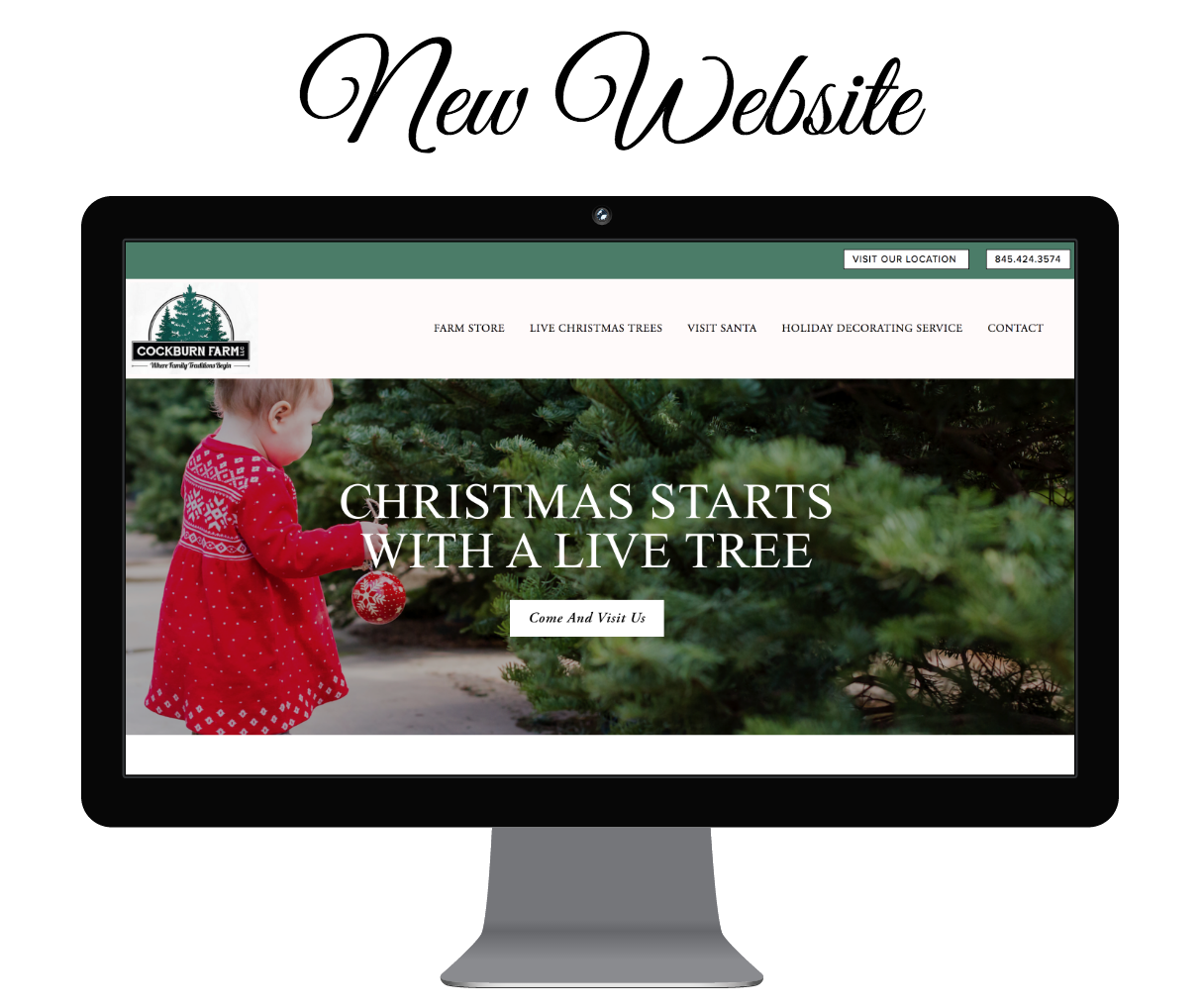 a new website for christmas tree farm in Garrison, NY