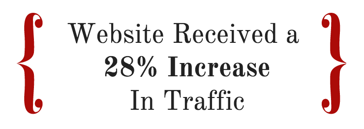 website received a 28% increase in traffic