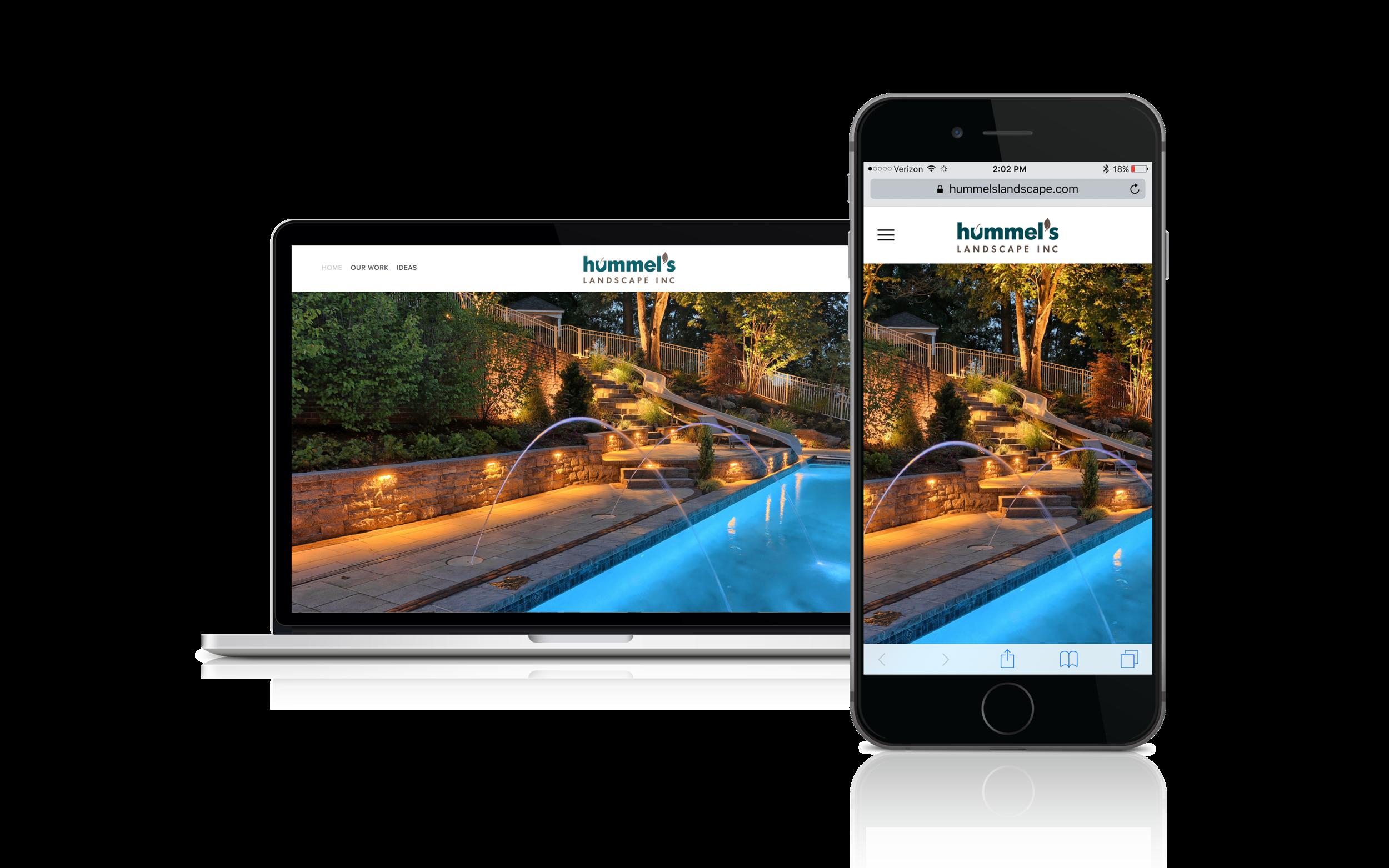 Hummels landscape in Harrisburg, PA design new website