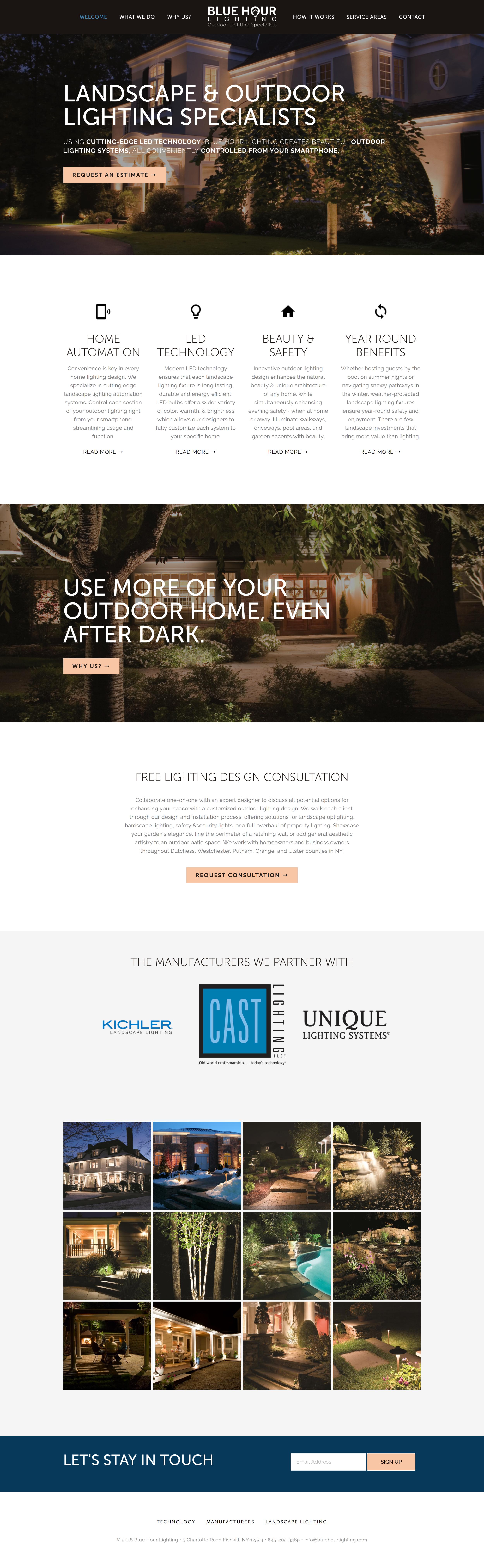 landscape lighting website design