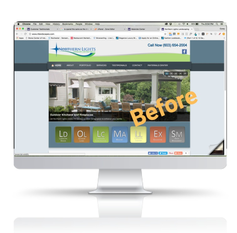 Pennsylvania landscaping company previous website