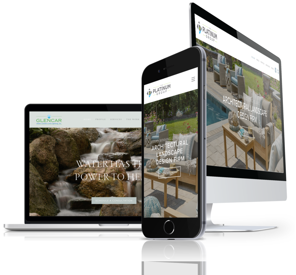 Modern contractor website design in Buffalo, NY