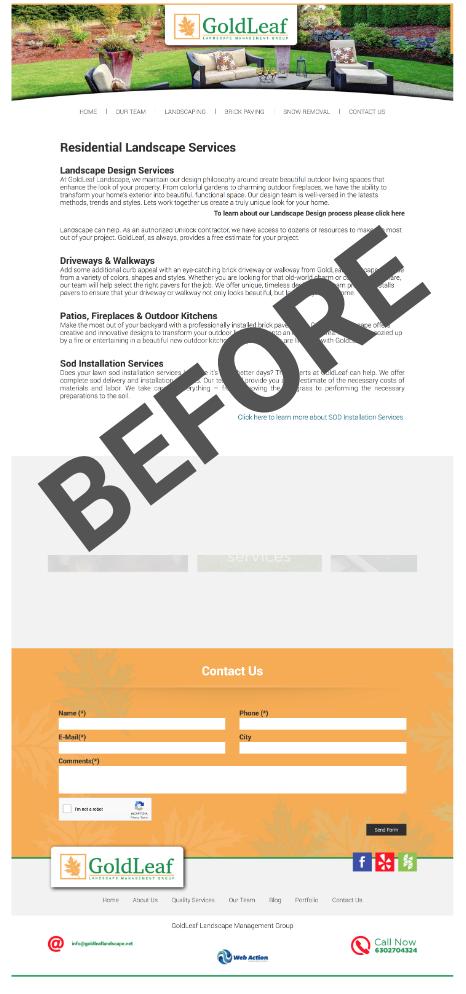 Case Study Website Design For A Design Build Company In Aurora Il Halstead Construction Contractor Landscaper Marketing