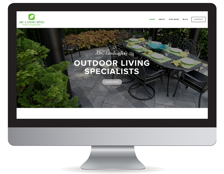 Template for contractor website design in Florida