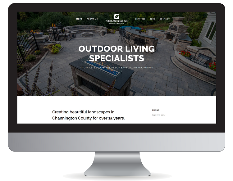 Modern contractor website design in Texas