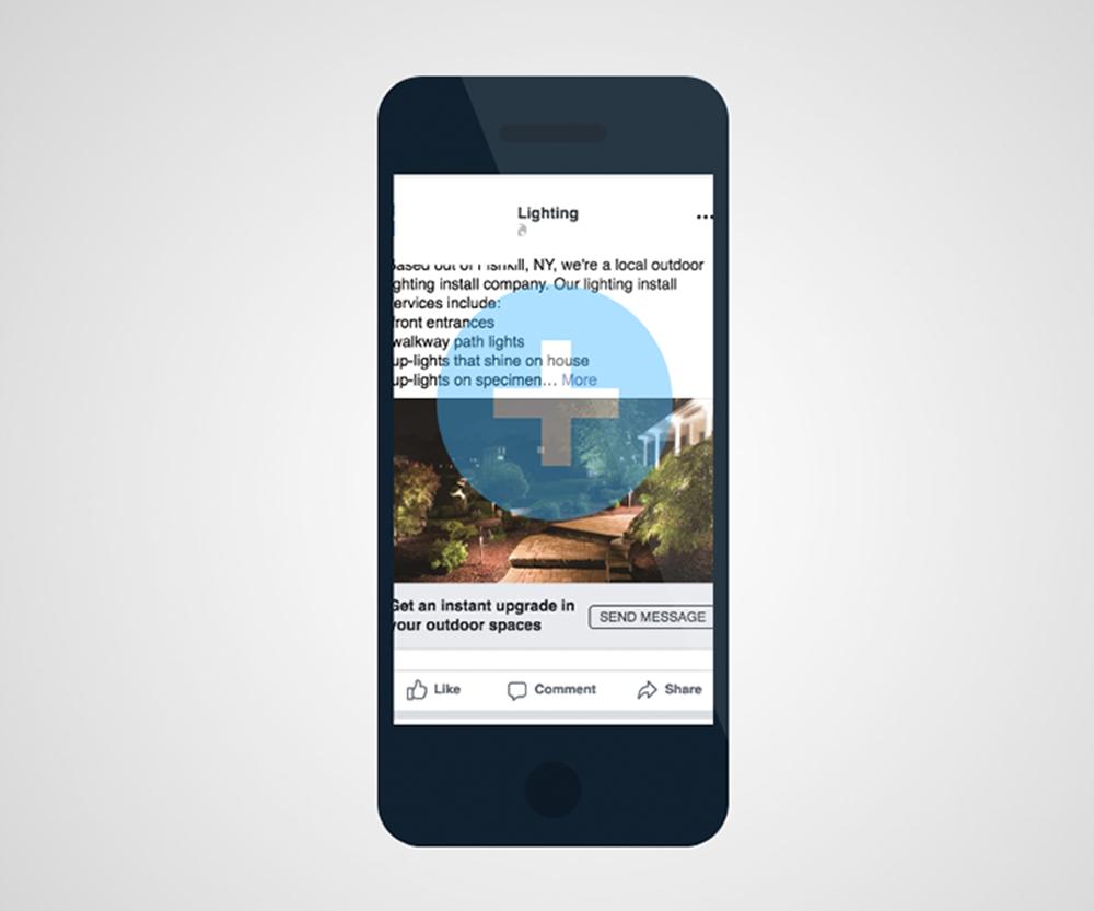 Facebook Ads for Landscape Lighting Company