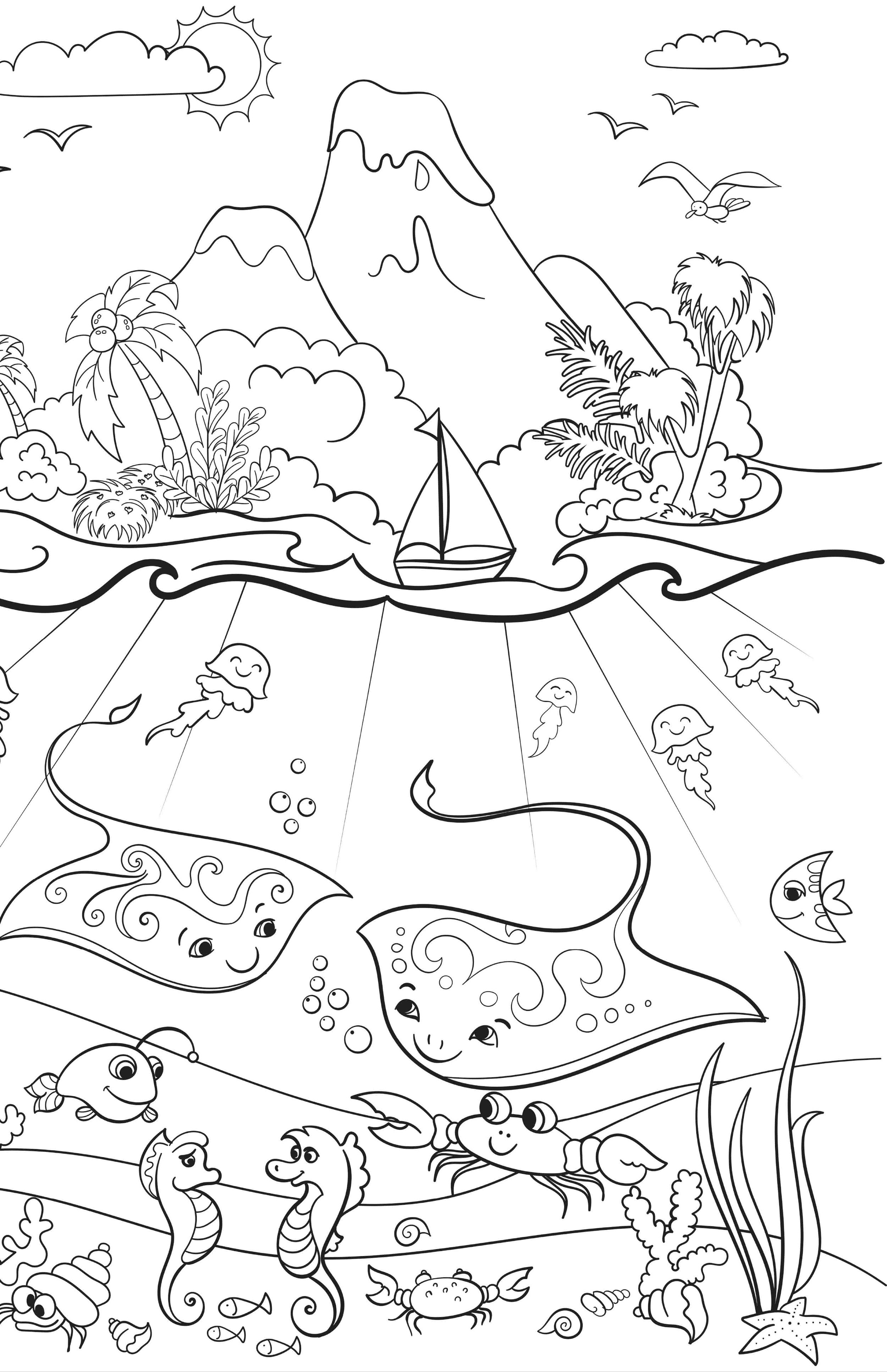 Billy's at the Beach, Newport Beach, California, Kids Coloring Book.jpg