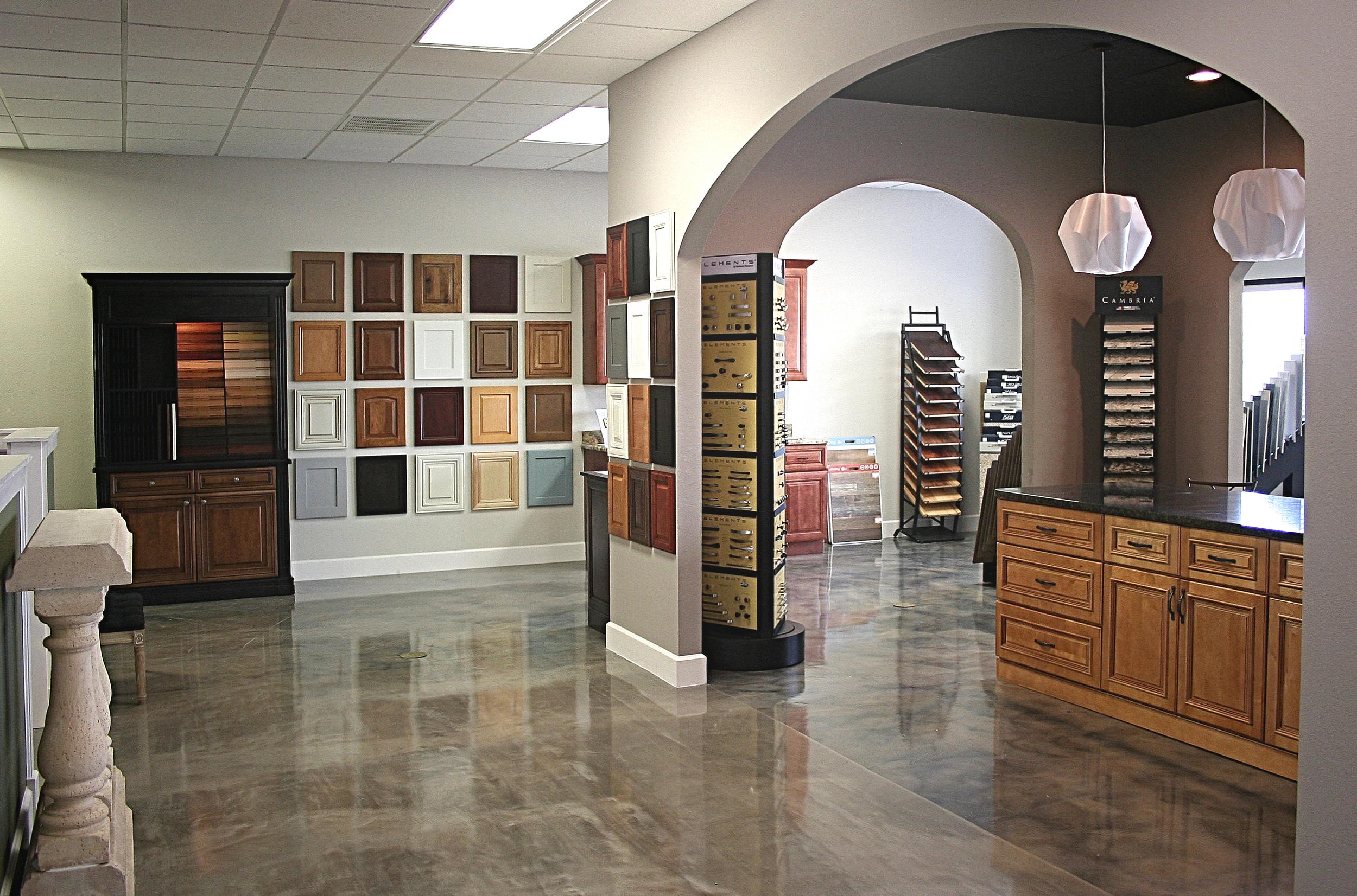 Cabinets, Tile, flooring. Wozniak Builders showroom