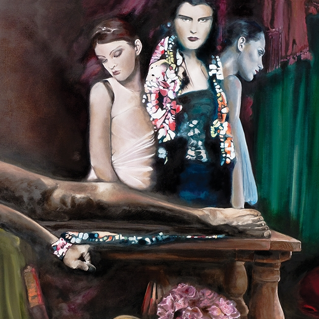 SONG OF A MAN WHO HAS COME THROUGH   80 x 40 inches, oil on canvas, 2009    Inspired from a poem written by  D. H. Lawrence.