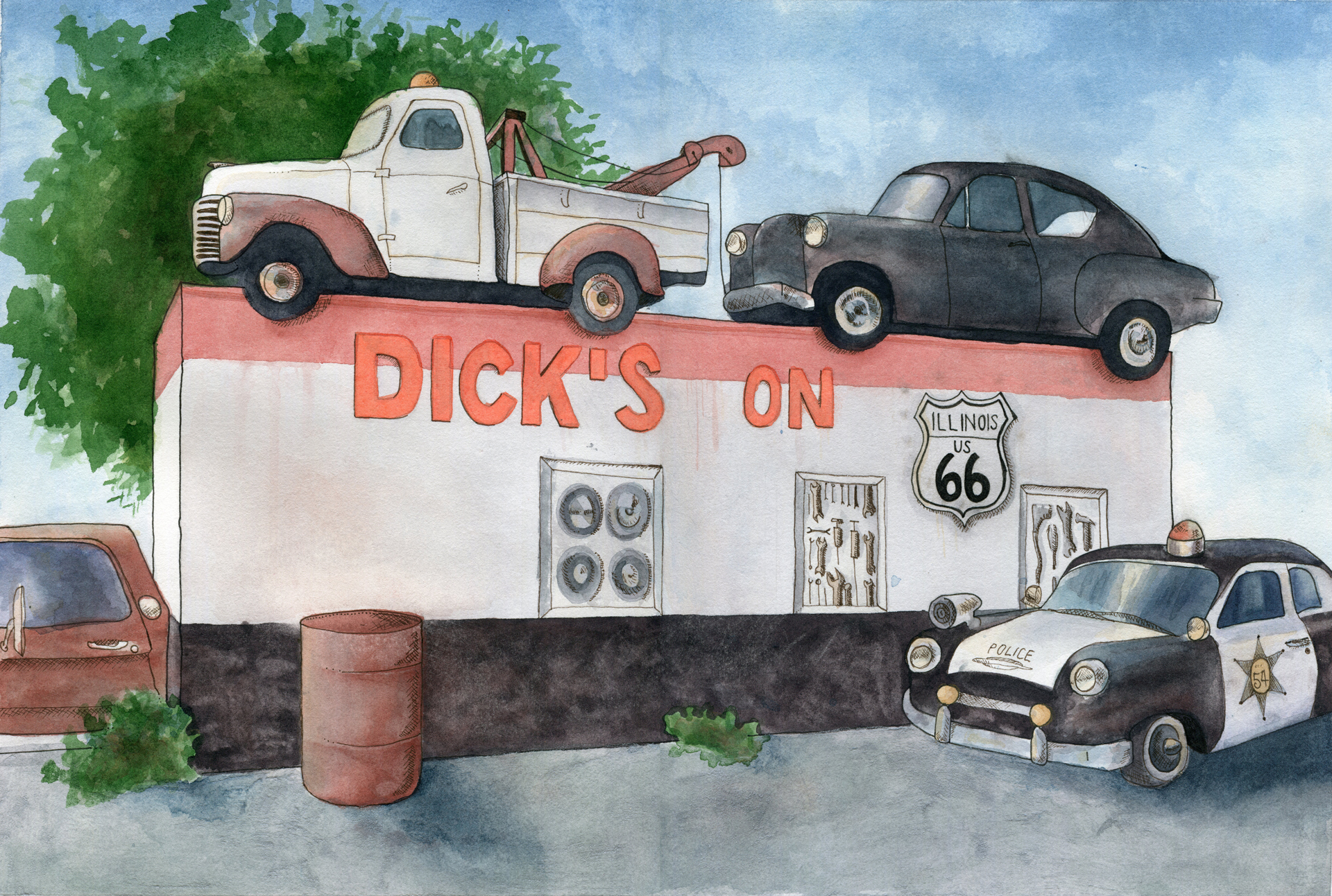 Dicks Towing on Rt. 66