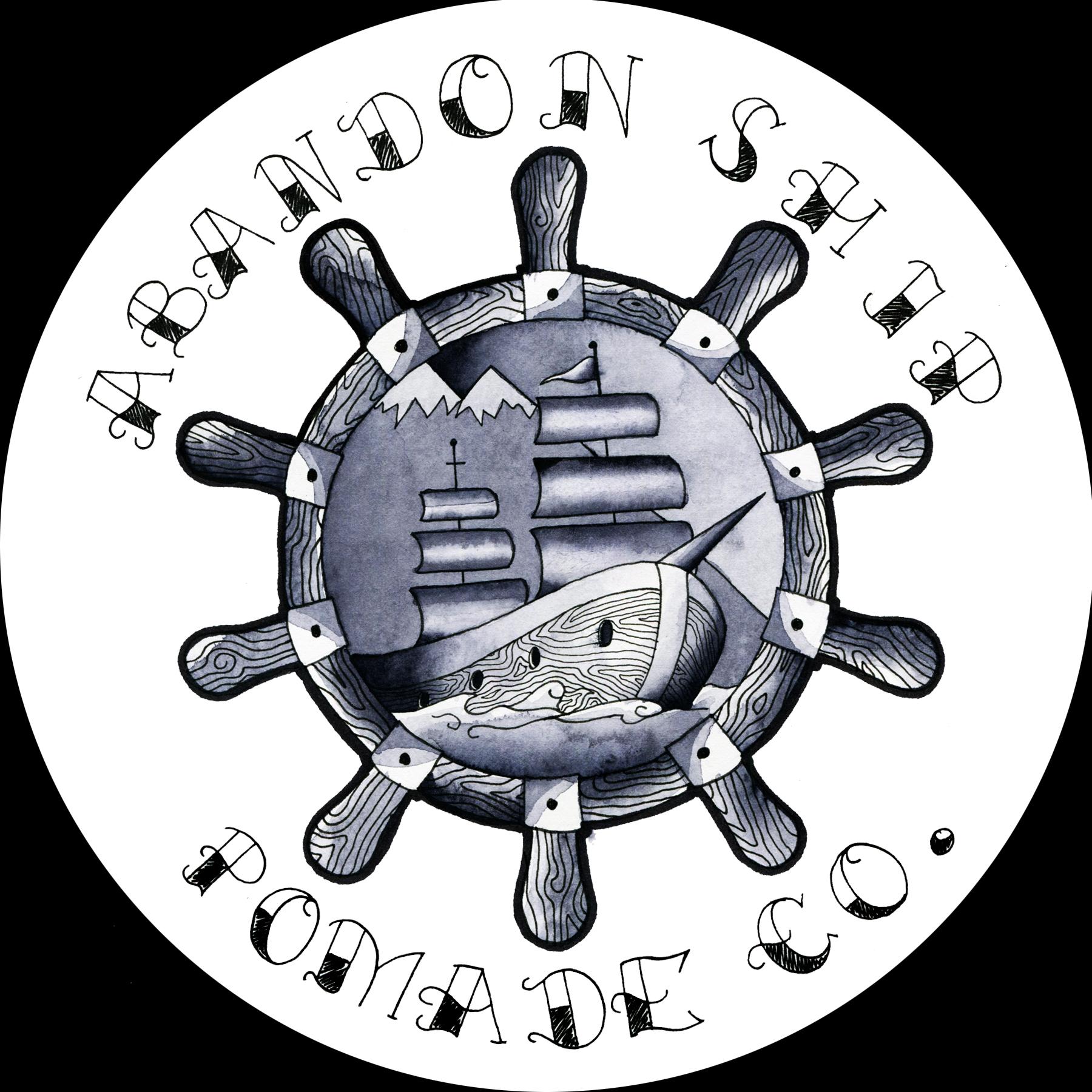 Design for Abandon Ship Pomade Co.