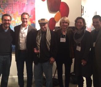 Morri Creech, Robert Langford, Richard Garcia, and  #CharlotteLit 's Kathie Collins, Lisa Zerkle, and Paul Reali
