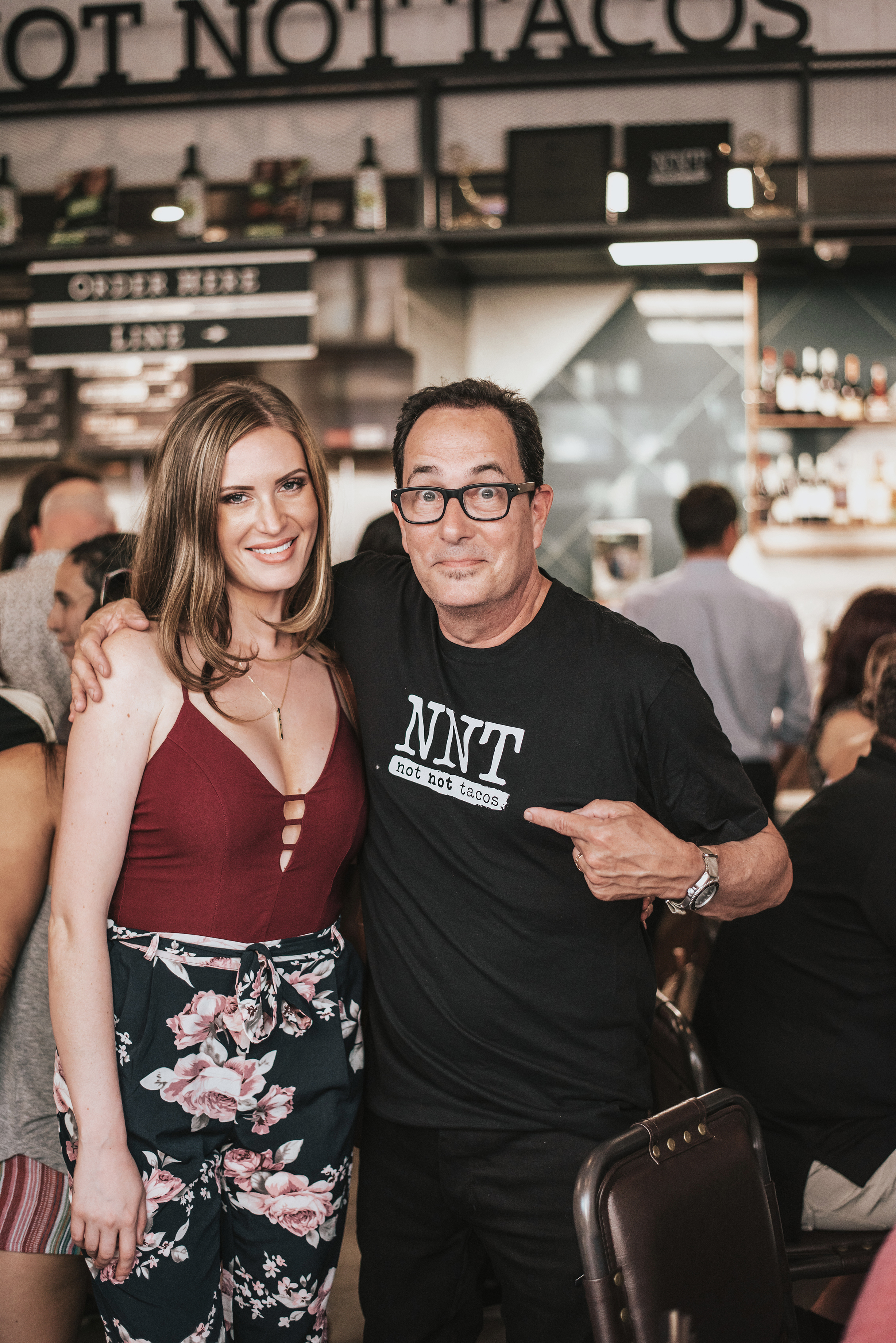 Me with Sam The Cooking Guy at the soft opening of the Little Italy Food Hall