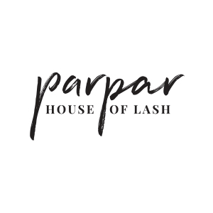 Parpar House of Lash logo by Gretchen Kamp in San Diego, CA and Brooklyn, New York City