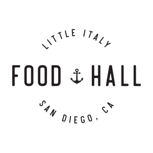 Little Italy Food Hall Logo by Gretchen Kamp in San Diego, California