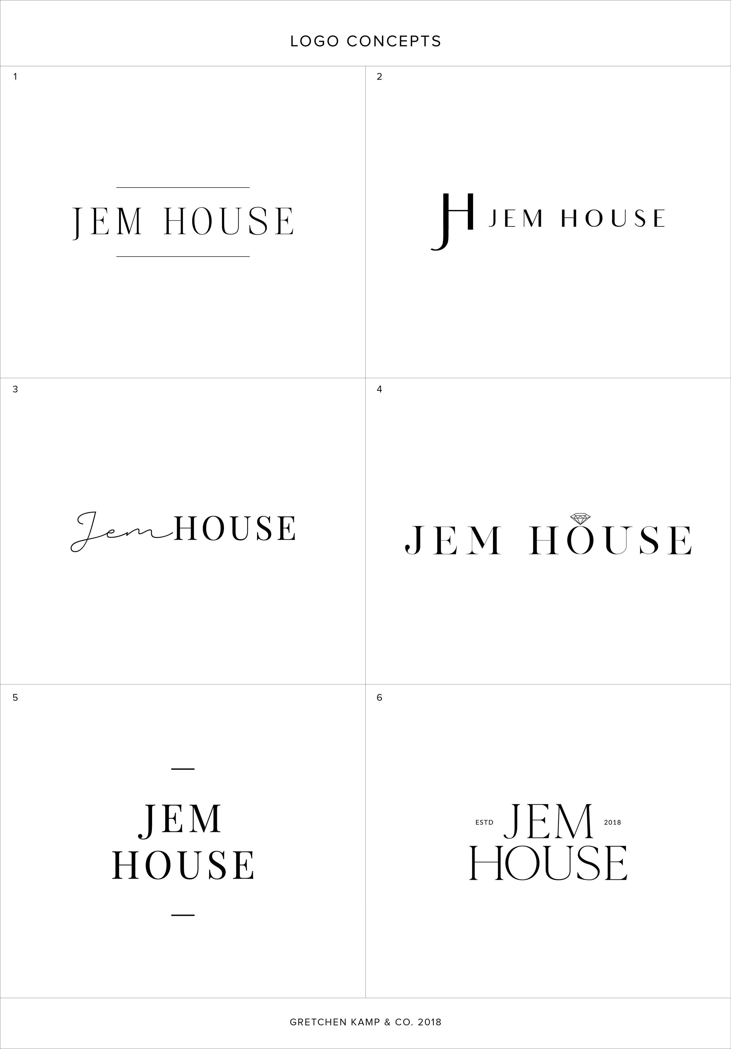 Jem House Logos by Gretchen Kamp