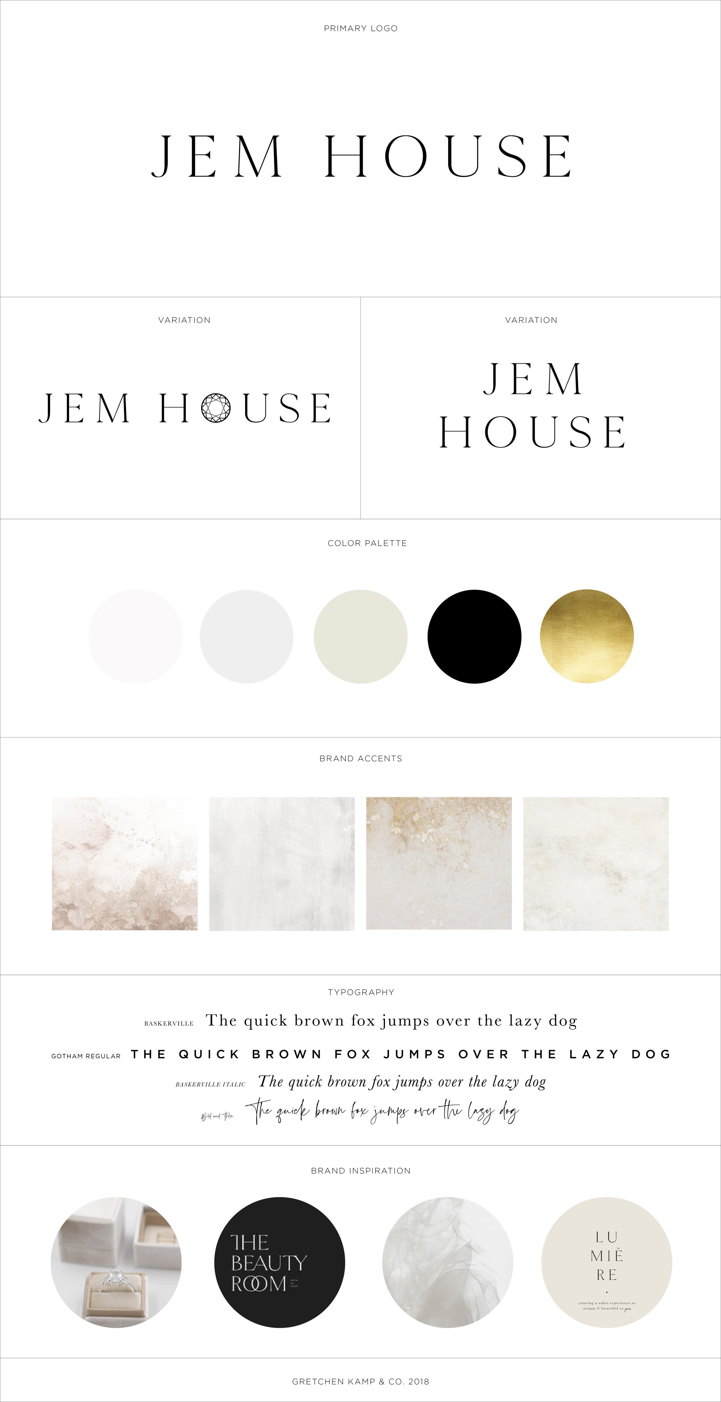 Jem House Branding