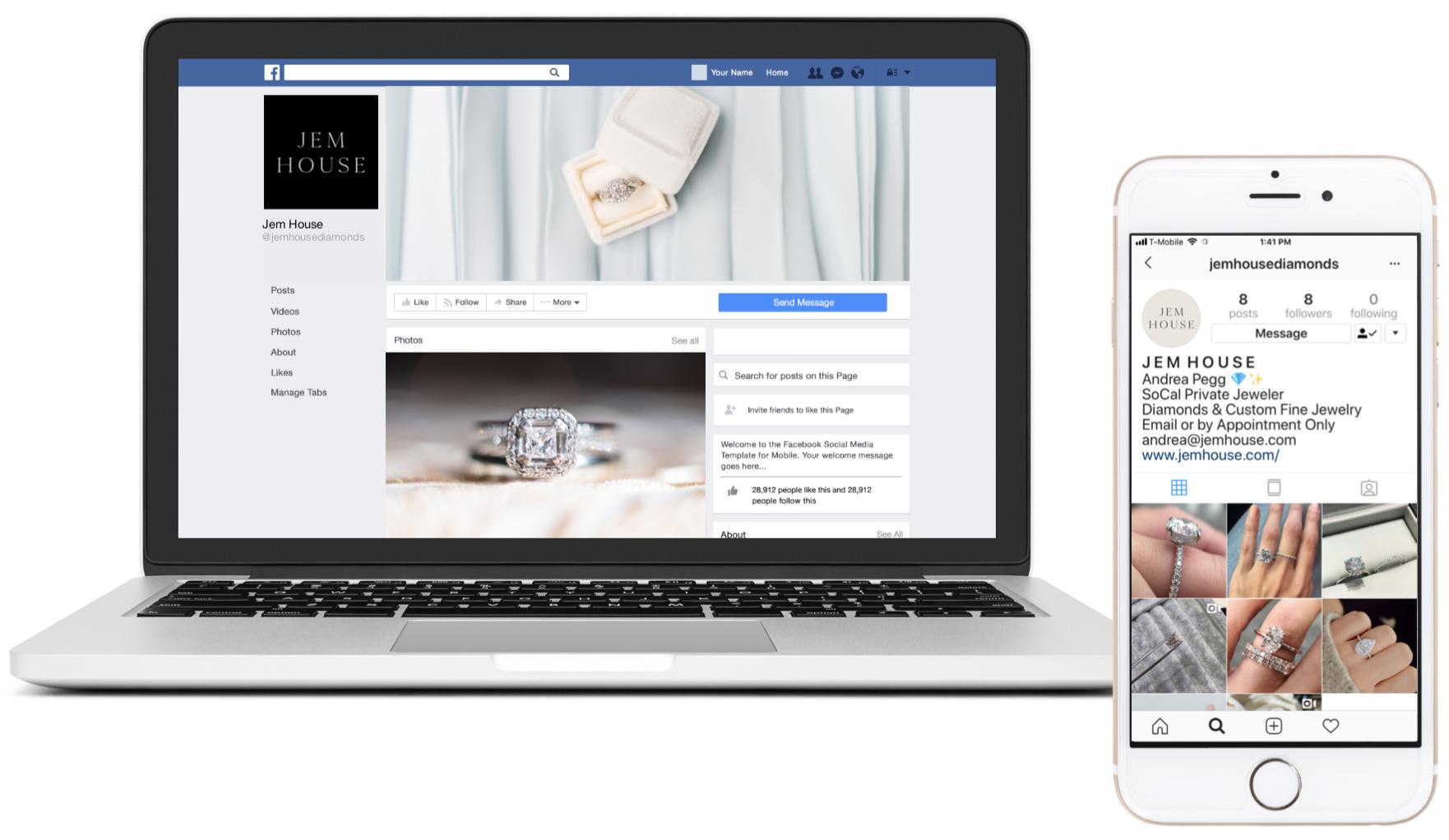Jem House Social Media Branding