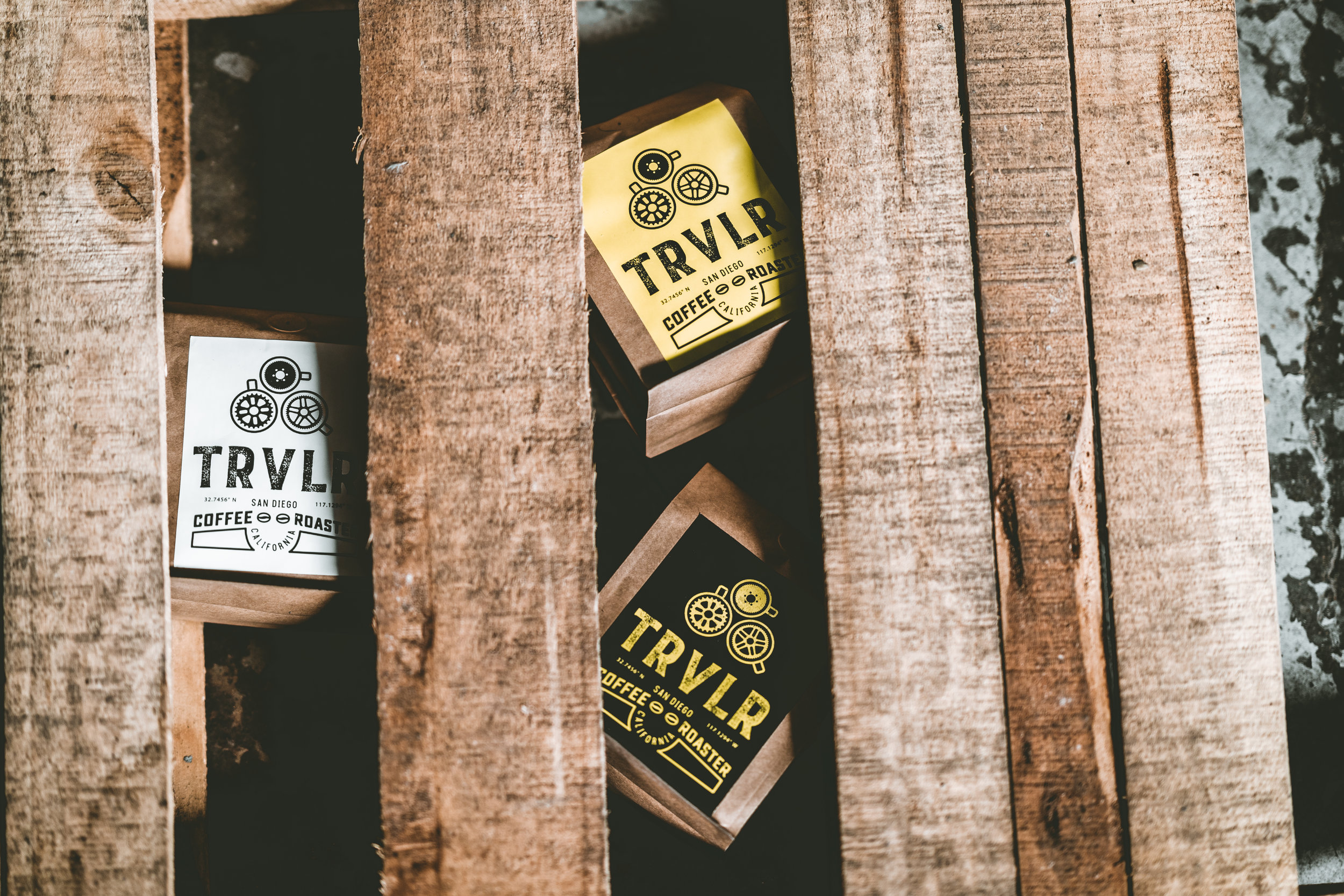 Brand Photography by Gretchen Kamp & Co. for TRVLR Coffee Roaster in San Diego, CA