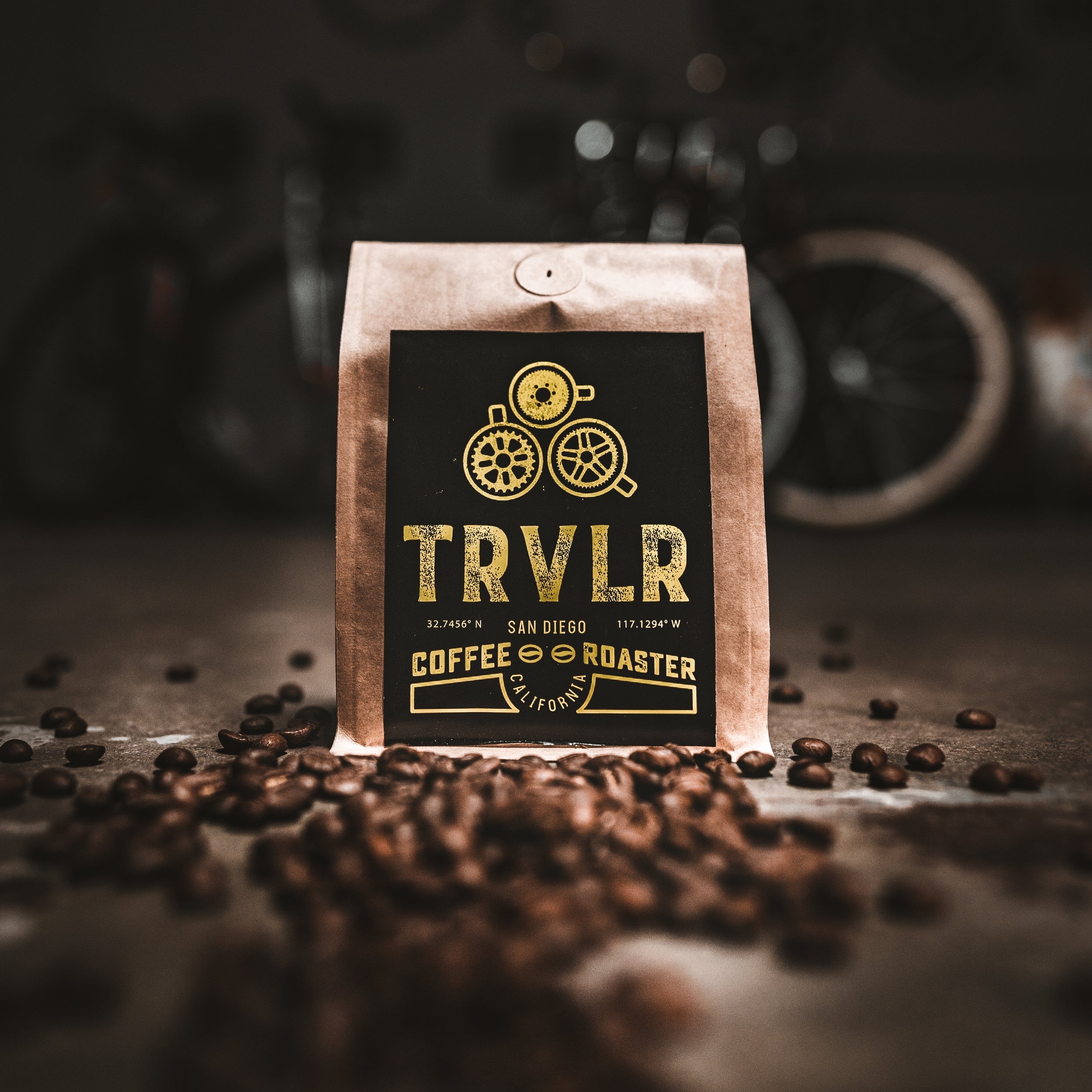 TRVLR Coffee Brand Photography by Gretchen Kamp & Co.