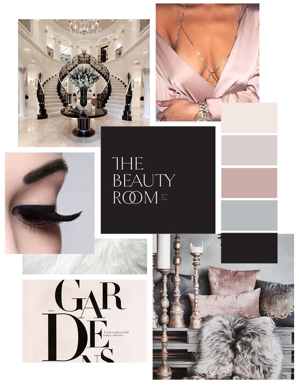 Parpar House of Lash Mood Board by Gretchen Kamp, branding specialist and designer in Astoria, Queens, New York and San Diego, California