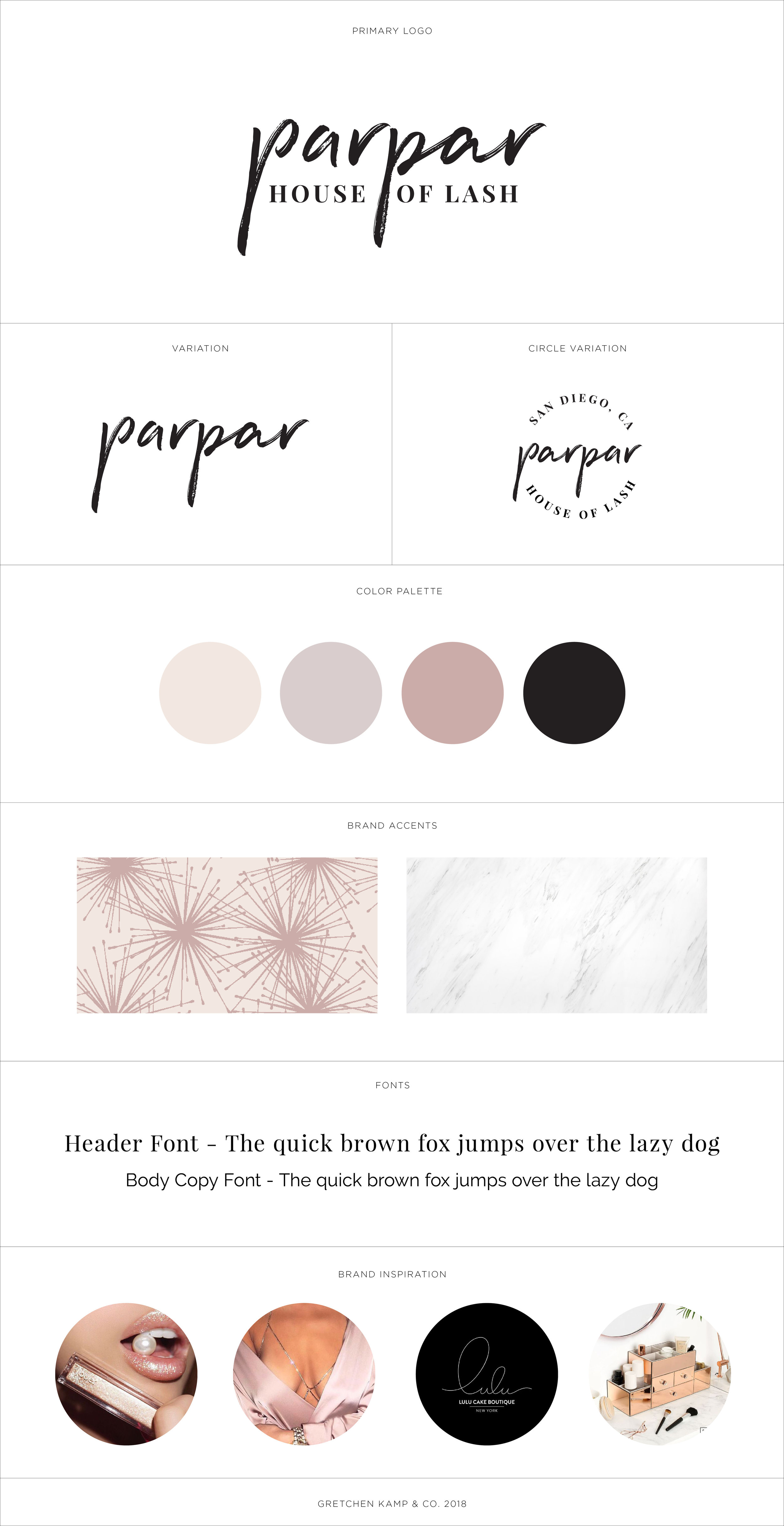 Brand Identiy for a lash studio by Gretchen Kamp, branding specialist & designed based in Astoria, Queens, New York and San Diego, California