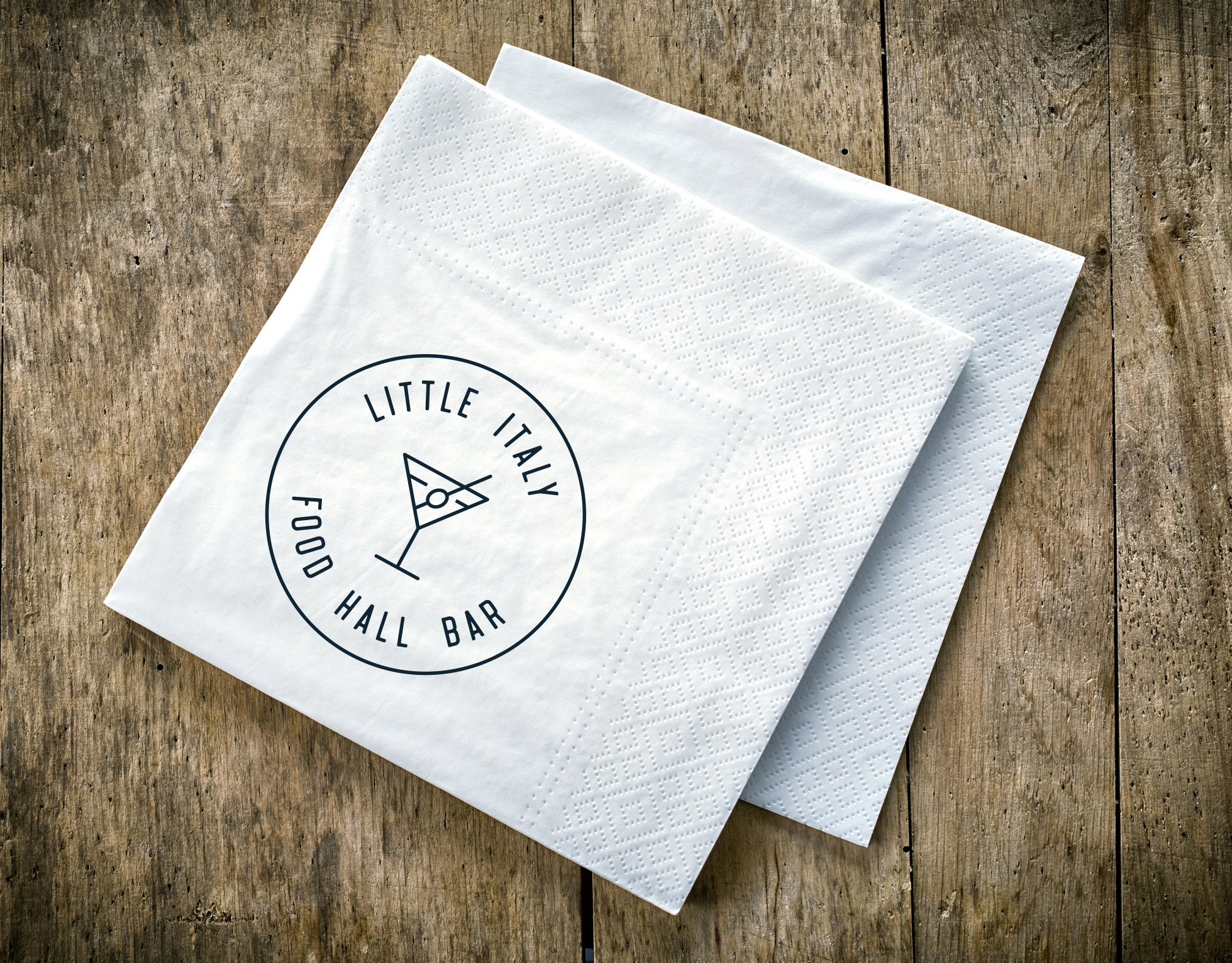 Little Italy Food Hall brand identity by Gretchen Kamp in Astoria, Queens, New York and San Diego, California