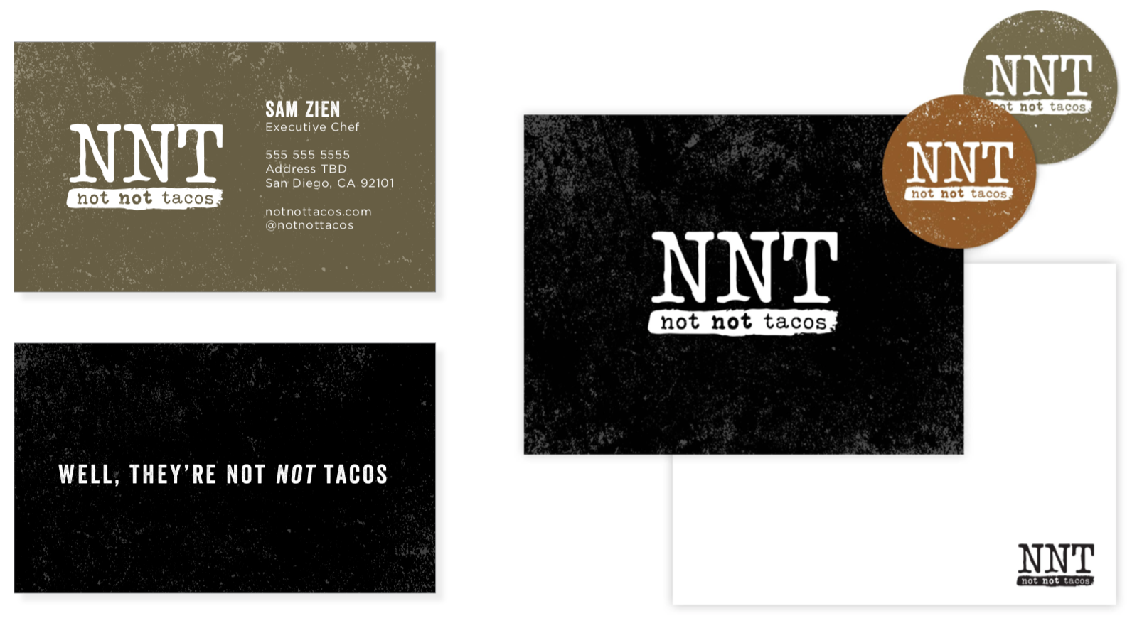 Not Not Tacos Brand Identity by Gretchen Kamp who is a branding specialist and designer based in Astoria, Queens, New York and San Diego, California