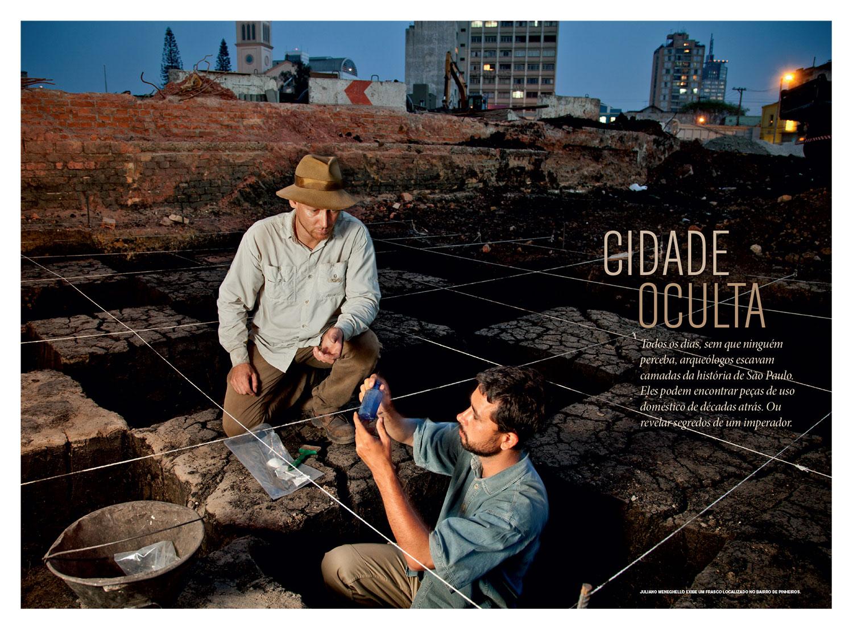 Edição de fotos e design da reportagem  Cidade oculta   NG Brasil, abril 2013. Fotos de Maurício de Paiva