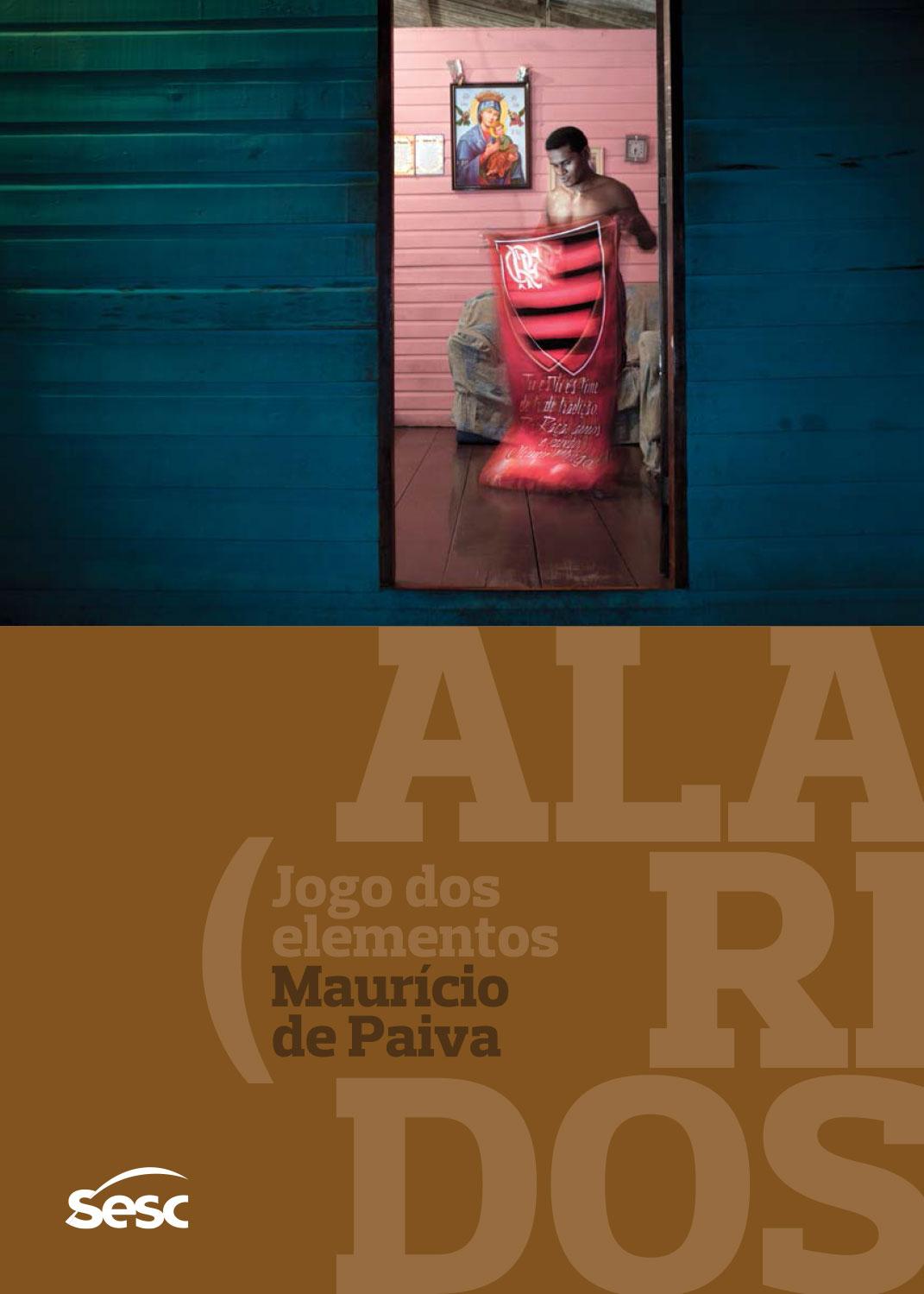 Catalogue design for the  Alaridos, jogo dos elementos  exhibition. | Sesc Itaquera, January-May 2015. Photo: Maurício de Paiva