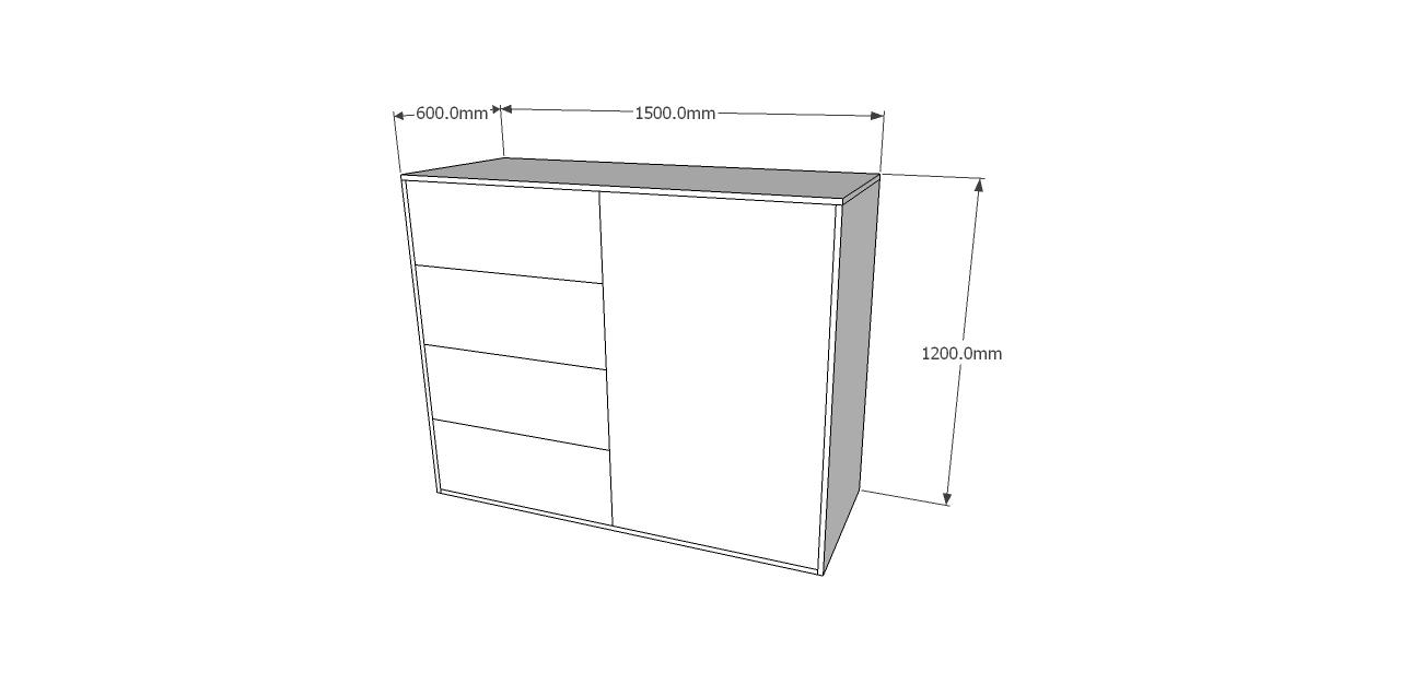 4 drawer 1 door wardrobe.png