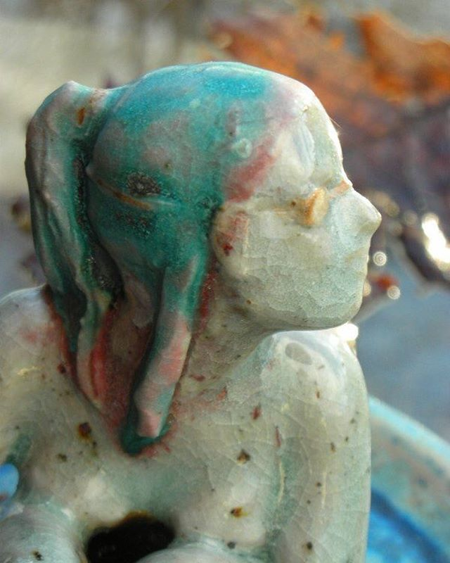 #ceramic #selfportrait as a #swimmer