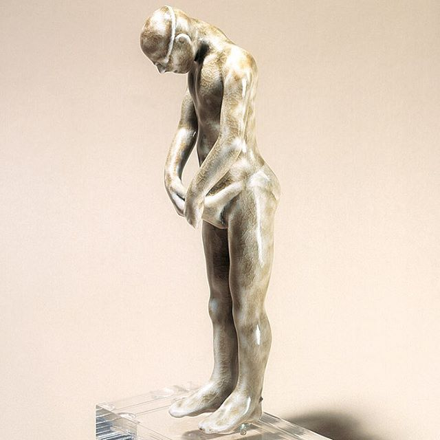 #ceramic #swimmer #woodfired #porcelain