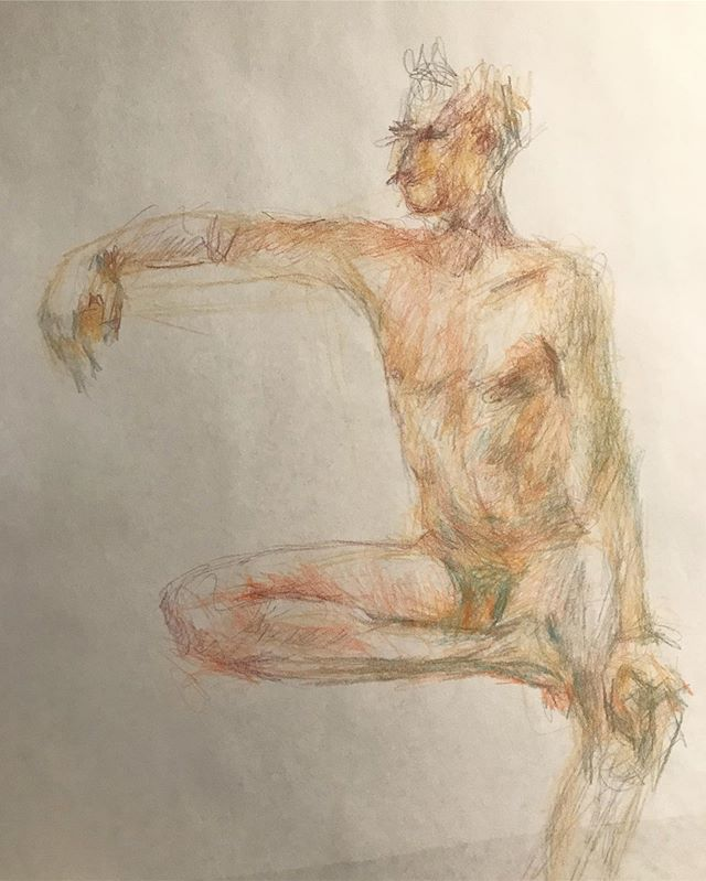 Gesture #drawing  with @ncfigurativeart  #lapizypapel #humanform #looselines