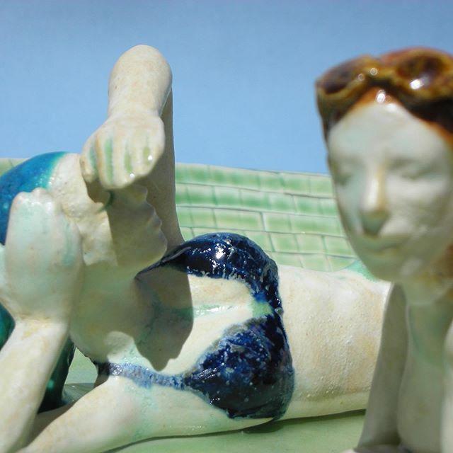 Ahhh! Sunbathing #ceramic #sculpture #figurativeart