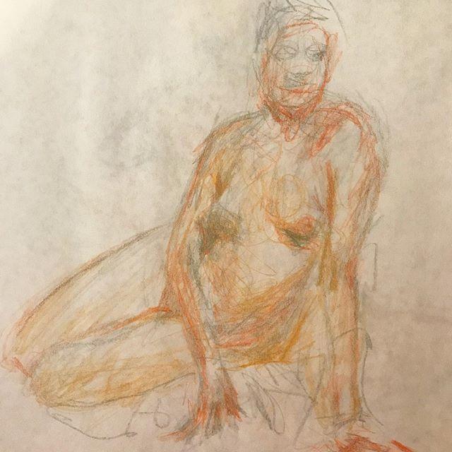 Wednesday night #figuredrawing with @ncfigurativeart  #dibujo #drawings #figurahumana #looselines