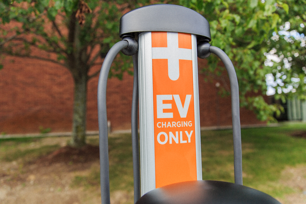 Level 2 Charger installed by Voltrek in Andover, Massachusetts