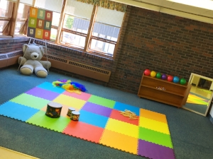 our bright classroom is ready for play!