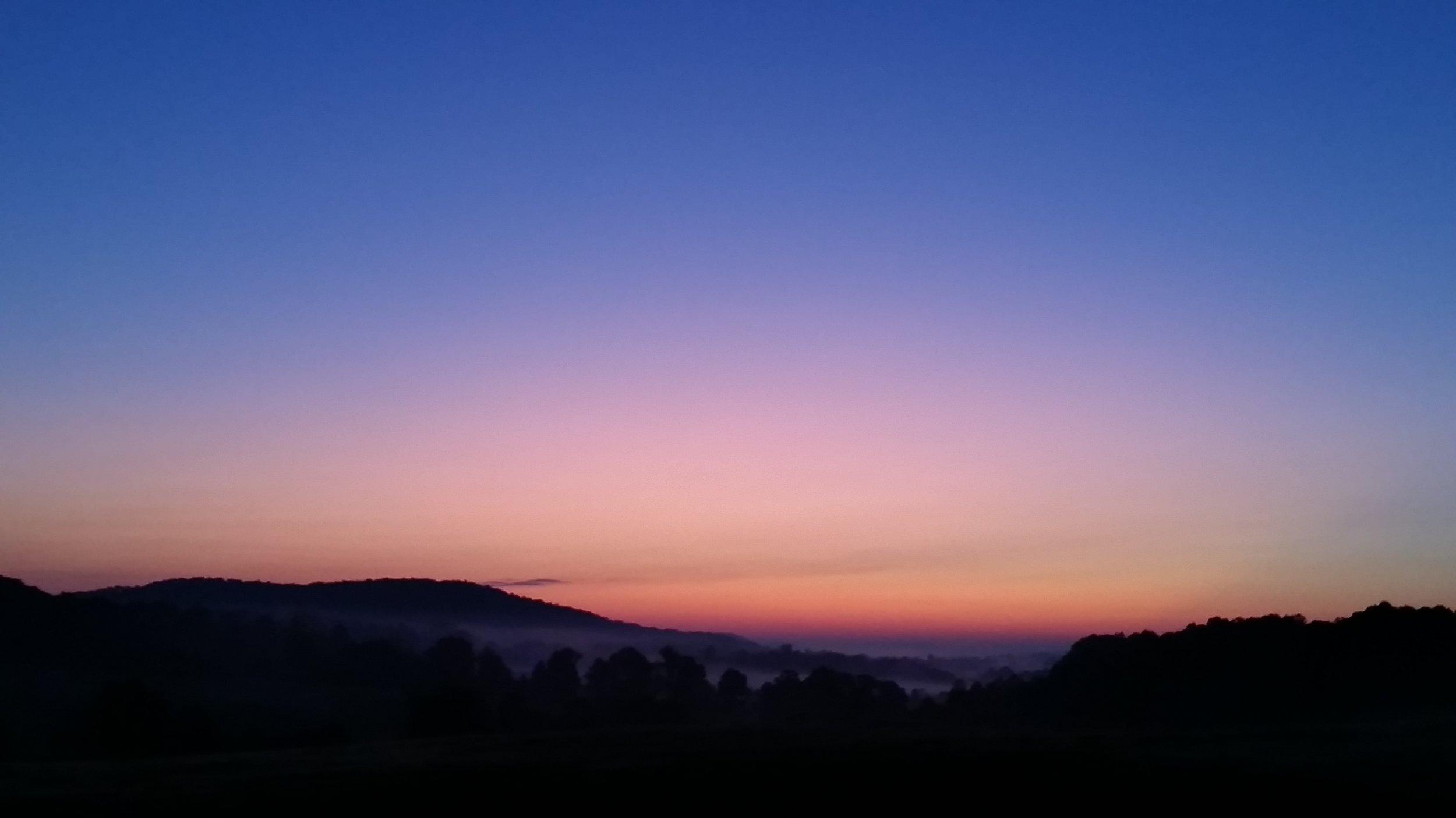 Yellow Mountain dawn gloaming