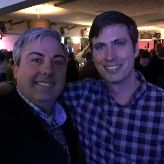 Josh Harrison of Improving and I at last night's Cbus Tech Community Holiday Party.