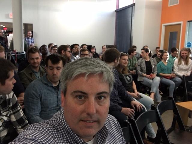 Crowd selfie of last night's Columbus Web Group event.
