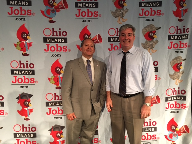 John McClure, Bureau Chief, Workforce Services with the Ohio Department of Job and Family Services and I at today's event.