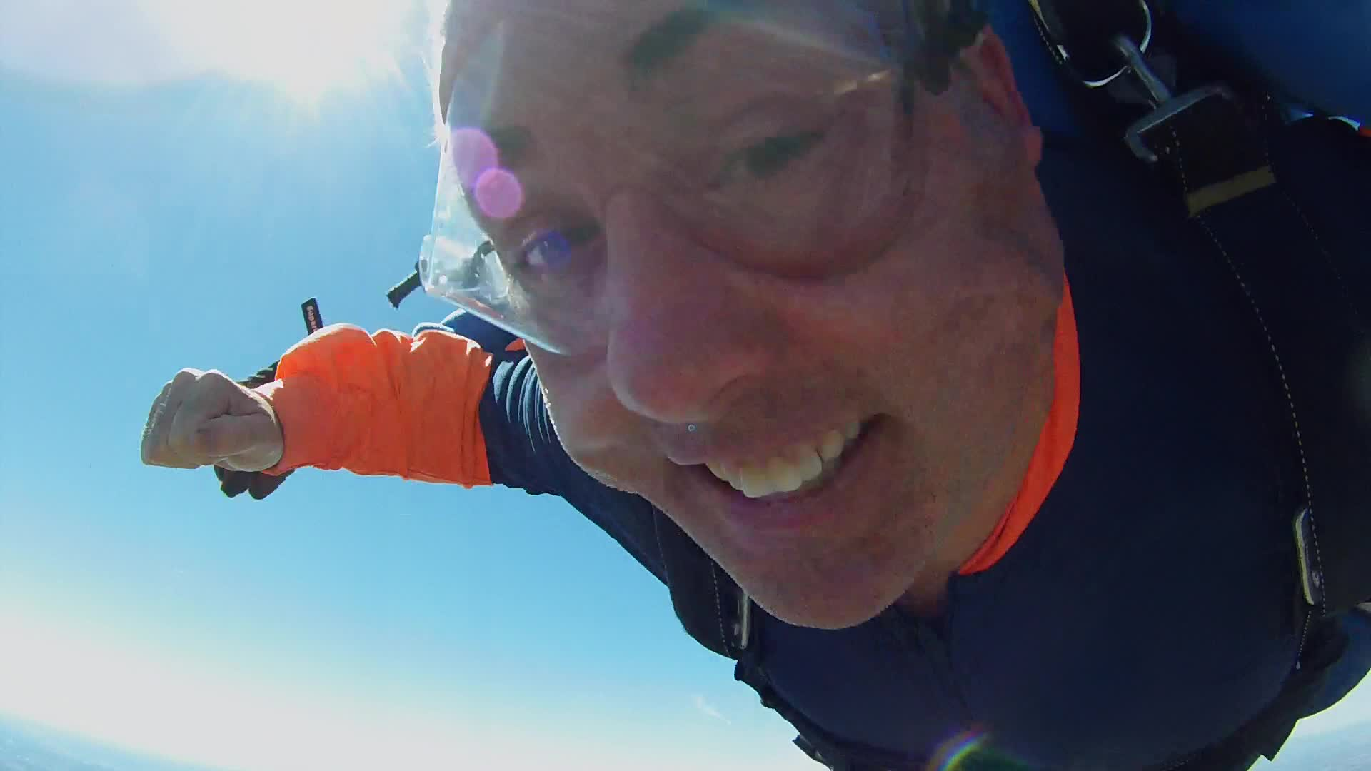 Here I am dropping to earth from 9,000 feet traveling 120 mph.