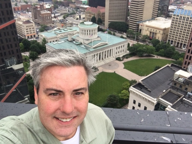 The view from today's host's office,  Unispace . The pic is taken from their deck located on the 25th floor of One Columbus.