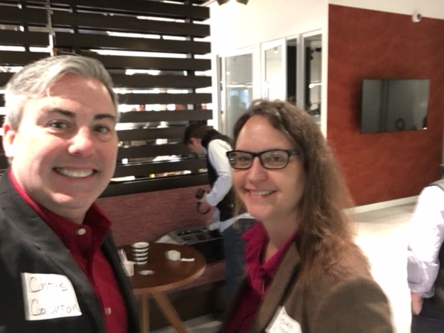 Carrie Ghose, Reporter for Business First and I at this morning's Breakfast with Business First.