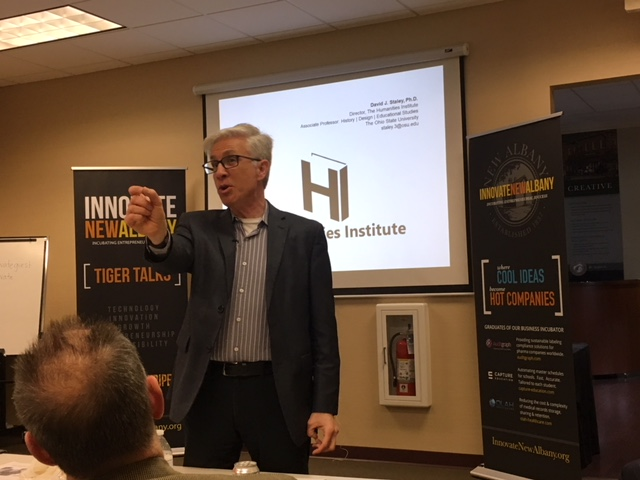 David Staley delivering his Tiger Talk today at Innovate New Albany.