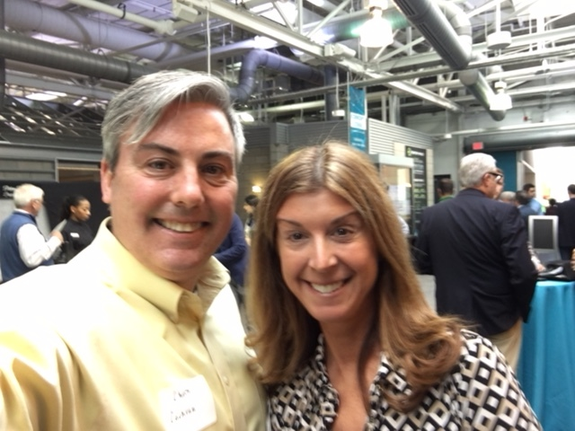 Brenda Jump, Director of Marketing with Carlile Patchen & Murphy and I at Rev1's Innovation Hop