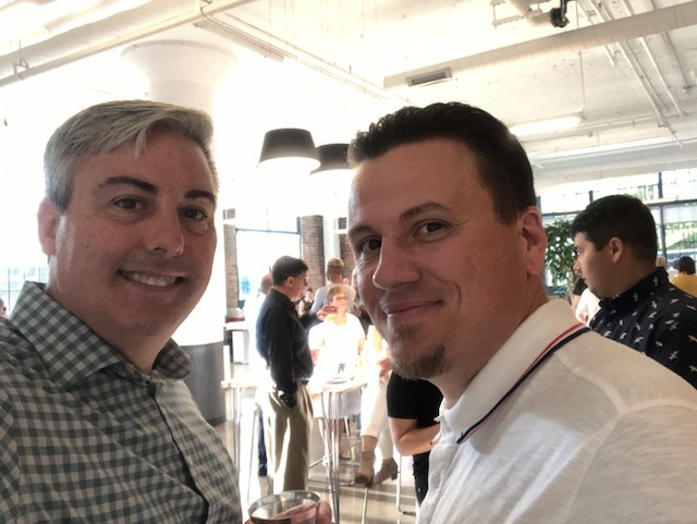 Bryan Waddell, Partner & COO of Civitas and Chris at last night's grand opening party.