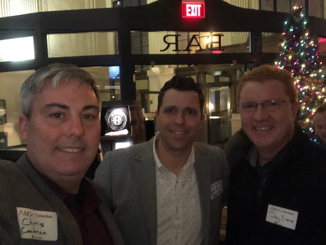 Sippin' bourbon with  Ryan Rekstis  and  Doug Evans  at last night's AMA Columbus Happy Hour.