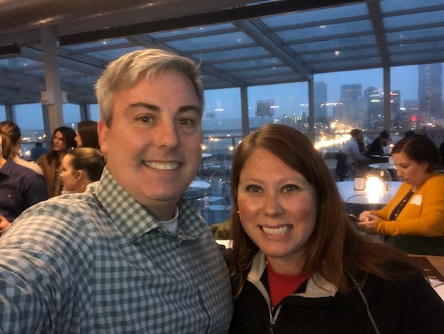 Crystal Vause, President Elect of AMA Columbus and I at last night's rooftop event at Juniper.